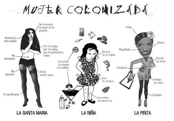 Dona colonitzada