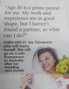 Marry to Ownself-Chen Wei-Yi