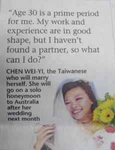 Marry to Ownself-Chen Wei-Yi